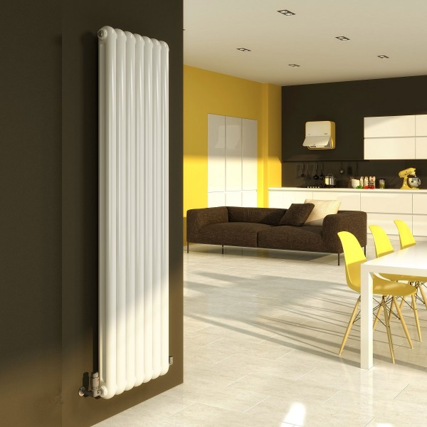 DQ Heating Cassius Vertical 1800 x 510 White