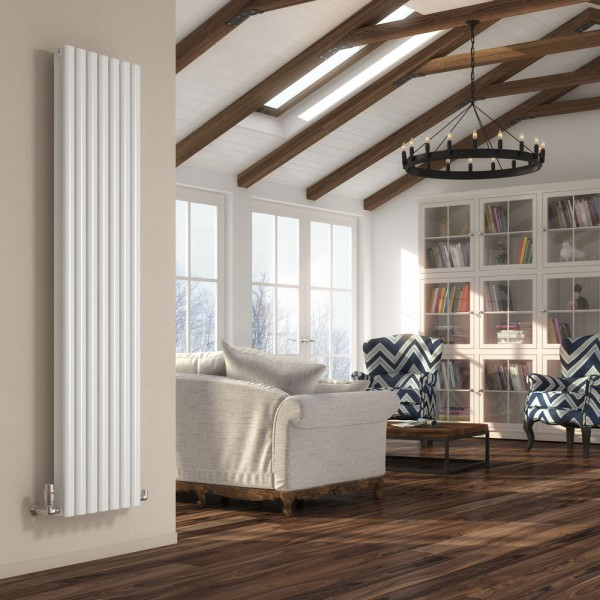 DQ Heating Cove Double Vertical 1500 x 413 White